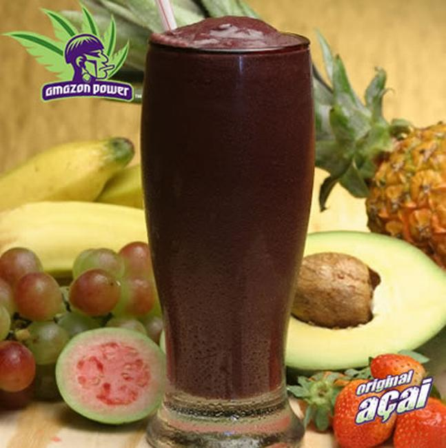 Acai with Pineapple and Blueberries Juice Smoothie