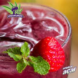 Acai with Strawberry and Mango Juice Smoothie