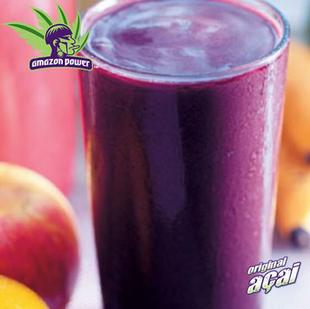 Acai with Orange and Banana Juice Smoothie