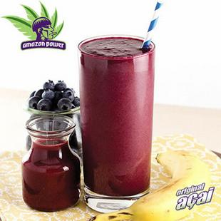 Acai with Mix Berries and Apple Juice Smoothie