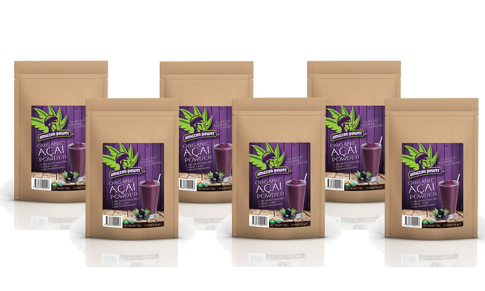 Acai Powder 70gr 6 Pack